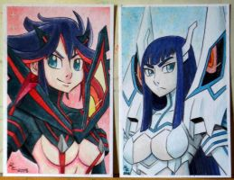 Kill La Kill: RYUKOxSATSUKI by Brother-Tico