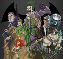 Batman villains by coldicebg