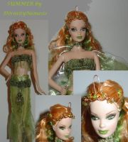 ooak barbie fairy summer by DivinityNemesis