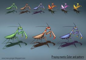 Mantis-color and pattern variation by rastafic