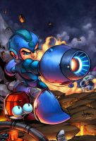 Megaman Tribute Piece by zaratus