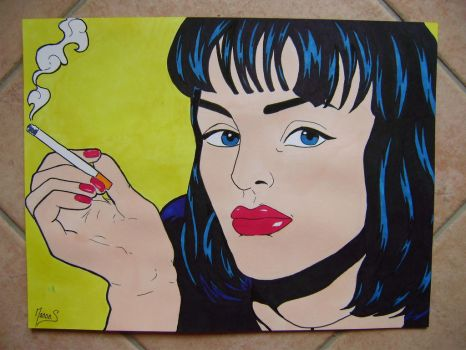 Mia Wallace - Pulp Fiction by ManonSoyer
