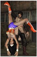 Wonder Woman defeated by alien caveman by ww3dart
