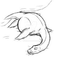 Sleepy feral Plesi sketch by Spinosaur123
