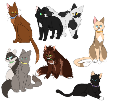 Cats Outside The Clans by Harryfly