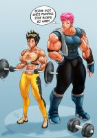 Tracer workout (w/ Zarya) by Pegius