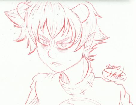 Karkat color sketch by AmericanBlackSerpent