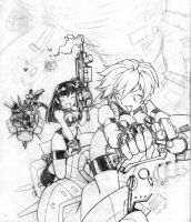 Dirty Pair sketch by inisipis