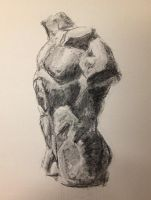 Torso Practice - 15 minutes, Charcoal by Radiance-Eternal