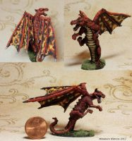 Fire Dragon cont. by MiniatureMistress
