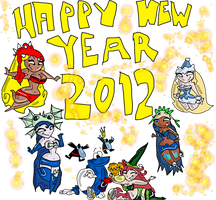 Happy new year 2012 by 2RaymanM64