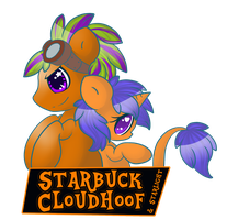 Starbuck and Starlight Trotcon Badge by GlitterBell