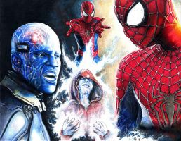 Spidey vs Electro by RobD4E