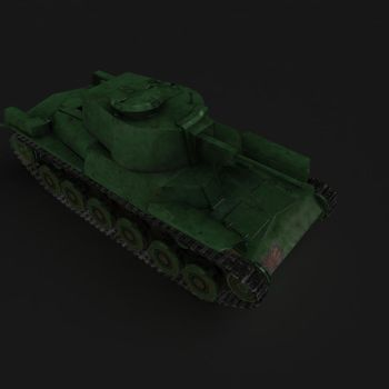 Type 96 Shinhoto Textured Low Poly by Video-Game-Nerd