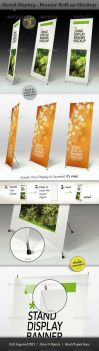 Stand Display Mockup - Roll-up by ranfirefly