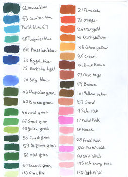 Touchfive Marker Colour Chart Page 1 by Penholderart