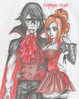 The Vampire Couple by DevilishMirajane