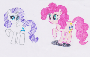 Rarity and Pinkie Pie by luissteam
