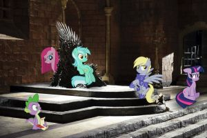 The Pony Throne - Game of Thrones by normanb88