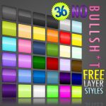 36 Free Photoshop Layer Styles by drewberry2012