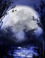 Shadow of the moon_ scetch by Ti-R