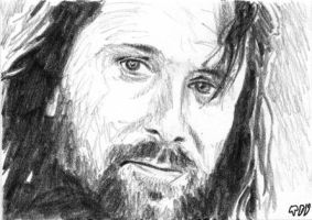 Aragorn sketch card 2 by tdastick