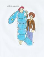 Noll and the snake by Gojiro7