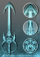 (CLOSED) - Oceanic Keyblade Weapon Adoptable #046 by Timothy-Henri