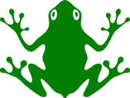 Simple Vector Frog Stock by enon013