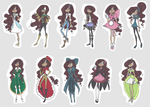 Miss Sparkle's Outfits by ChaoticAngel09