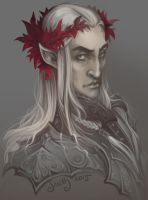 Thranduil (sketch) by SceithAilm