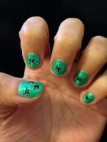 St.Patrick's Day nails by Prince5s