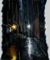 speed painted alleyway by Rodriguezzz