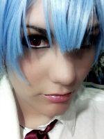 Ayanami Rei Test - make up wig and lenses by Thara-Wood