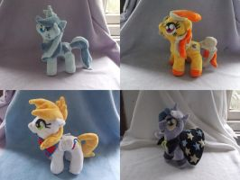 MLP FiM: Assorted commission plushies! by vulpinedesigns