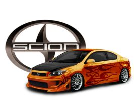 Tribal Themed Modded Scion tC by krazykohla