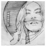 Girl with Moustache by grafnarq