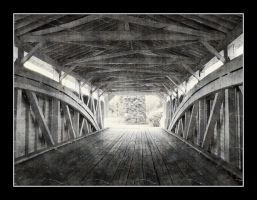 Through a Covered Bridge by syrenemyst