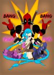 Deadpool and Jinx by jasaph