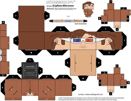 Cubee - The 10th Doctor '3D Glasses' by CyberDrone