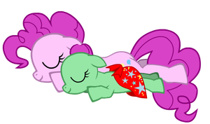 Pinkie Pie sleeping with Yuka with your blanket by BrisaFluttershy
