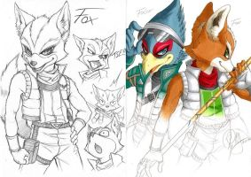 Starfox SKETCHES by Rey-HANA