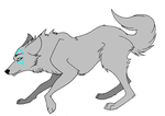 Blue/ grey wolf by AppleBloom890