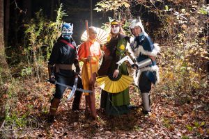 Avatar Group in the Forest by gstqfashions