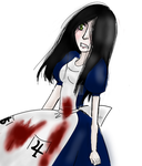 Alice doodle by MadameMcSpooky