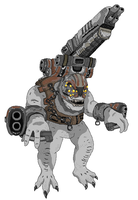 Gears of War Brumak Pixelart by TheARiEs33