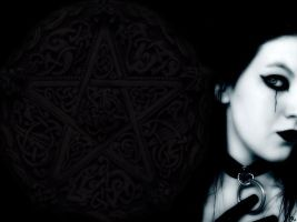 Goth Pentacle by wiccan-club