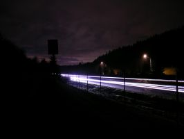 I-90 at night by j-dub