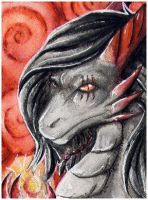 ACEO for FireWolfAfro by Naseilen