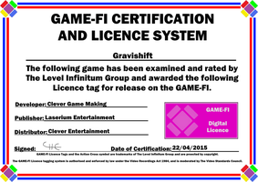 Gravishift Game-Fi Certificate by LevelInfinitum